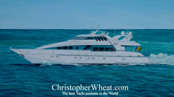 Custom Yacht Painting Moonraker