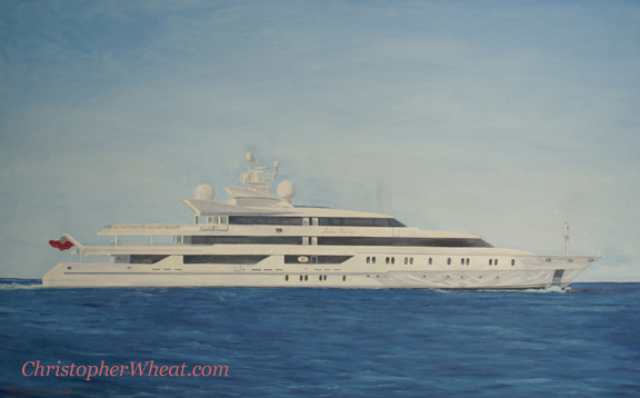 Super Yacht Indian Empress by artist Christopher Wheat