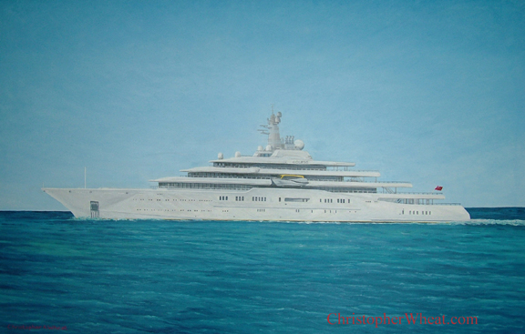 Mega Yacht Eclipse by artist Christopher Wheat