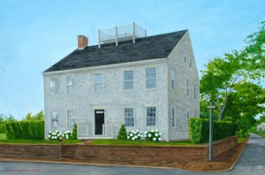 Nantucket Custom Home Portraits artist Christopher Wheat