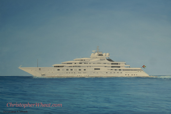 Mega Yacht Topaz by artist Christopher Wheat