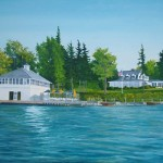 Waterfront Custom Home Portraits artist Christopher Wheat