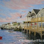 Easy Street North Wharf, Nantucket ~ 18x24 oil on canvas by Christopher Wheat