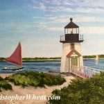 Nantucket Reds Brant Point, Nantucket ~ 12x16 oil on canvas by Christopher Wheat