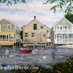 North Wharf, Nantucket ~ 18x24 oil on canvas by Christopher Wheat