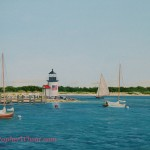 Glorious Day Brant Point, Nantucket ~ 36x48 oil on canvas by Christopher Wheat