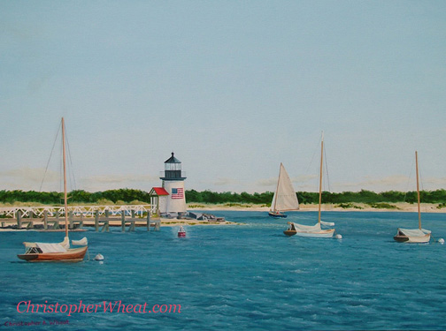 Glorious Day Nantucket 4th of July artist Christopher Wheat