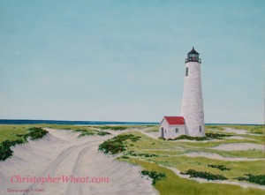 Path to Great Point, Nantucket ~ 18x24 oil on canvas by Christopher Wheat