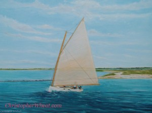 Leaving Nantucket ~ 24x30 oil on canvas by Christopher Wheat