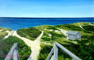Steps Beach, Nantucket Original Oil On Canvas 24x36 by artist Christopher Wheat