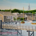 Straight Wharf Nantucket Original by artist Christopher Wheat