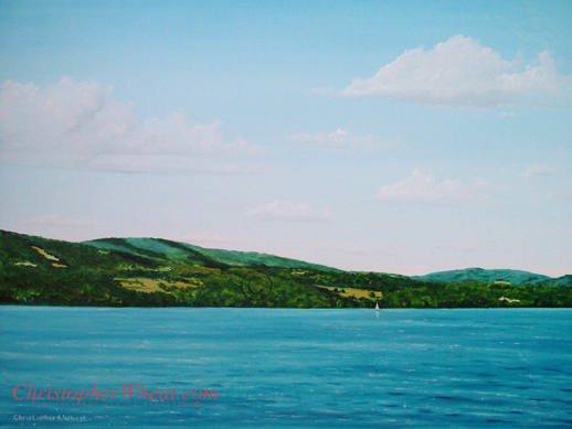 Limited Edition Canvas Print Bristol Hills Canandaigua Lake 12x16 Artist Christopher Wheat
