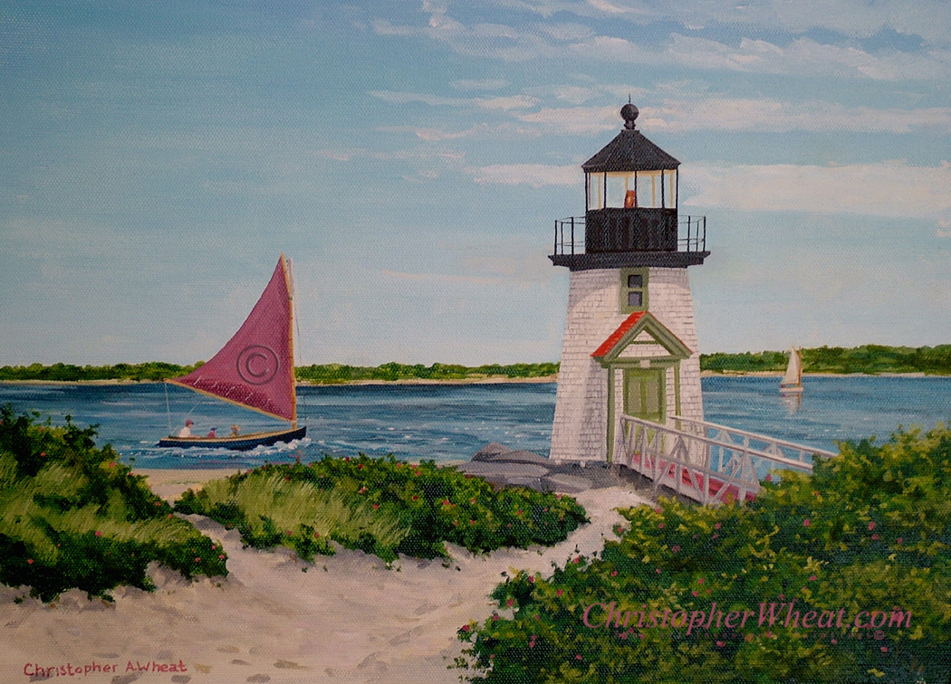 Nantucket Reds Brant Point Canvas Print Artist Christopher Wheat