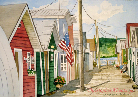 Freedom Boathouses, Canandaigua by artist Christopher Wheat