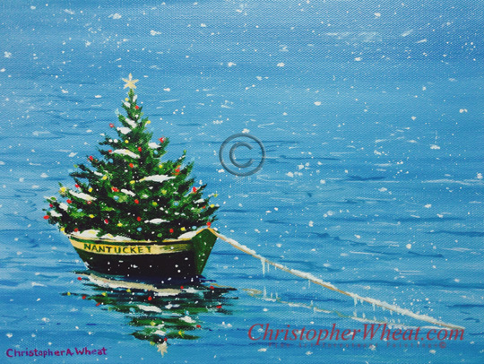 Nantucket Christmas by artist Christopher Wheat