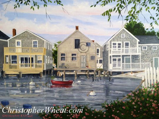 North Wharf, Nantucket Print