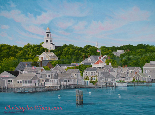 Returning to Nantucket Artist Christopher Wheat