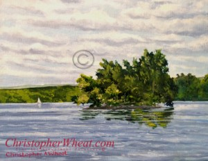 Squaw Island, Canandaigua Lake by artist Christopher Wheat