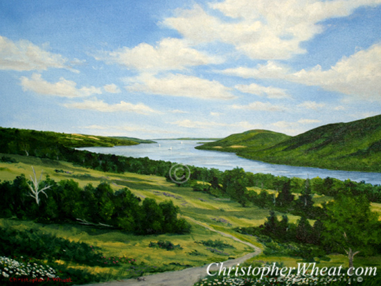Summer Revere, Canandaigua Lake by artist Christopher Wheat
