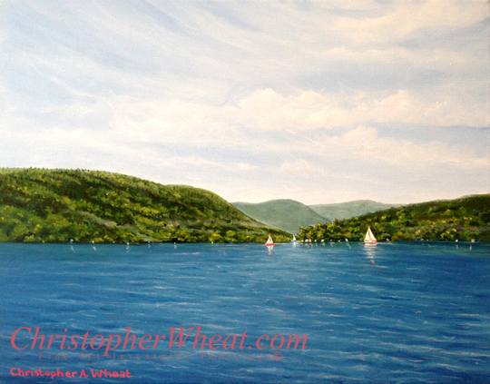 The Hills of Canandaigua Lake by artist Christopher Wheat