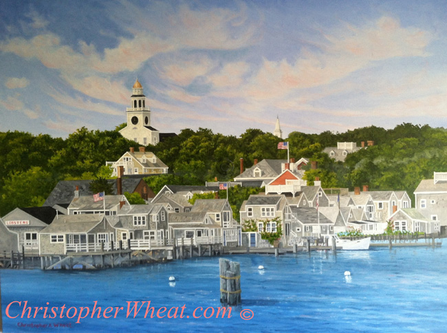 Returning To Nantucket, Artist Christopher Wheat
