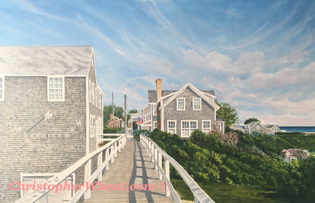 Siasconset Bridge - Original Painting - Christopher Wheat