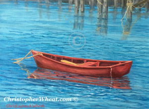 The Little Red Boat, Nantucket by artist Christopher Wheat