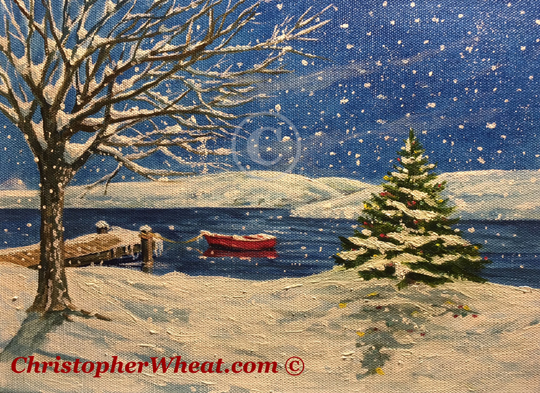 Canandaigua Home For the Holidays by artist Christopher Wheat