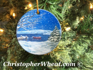 Peace on Earth - Canandaigua Lake Ornament by Artist Christopher Wheat