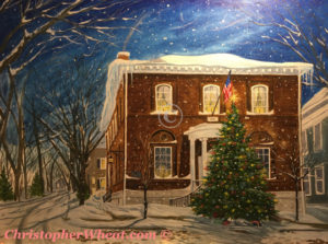 The Nantucket Christmas Tree by Artist Christopher Wheat