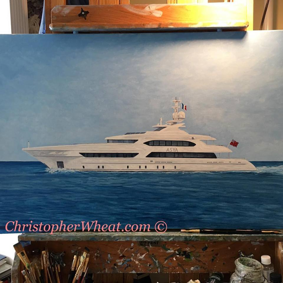 In progress ASYA Heesen by Christopher Wheat