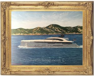 Bespoke Yacht Painting, Utopia IV by Christopher Wheat