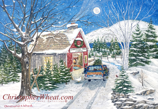 The Christmas Tree Farm Print